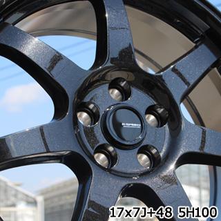 YOKOHAMA ヨコハマ ブルーアース RV-02 ミニバン サマータイヤ 205/55R17 HotStuff G-SPEED G-03 ブラック ホイールセット 4本 17インチ 17 X 7 +48 5穴 114.3