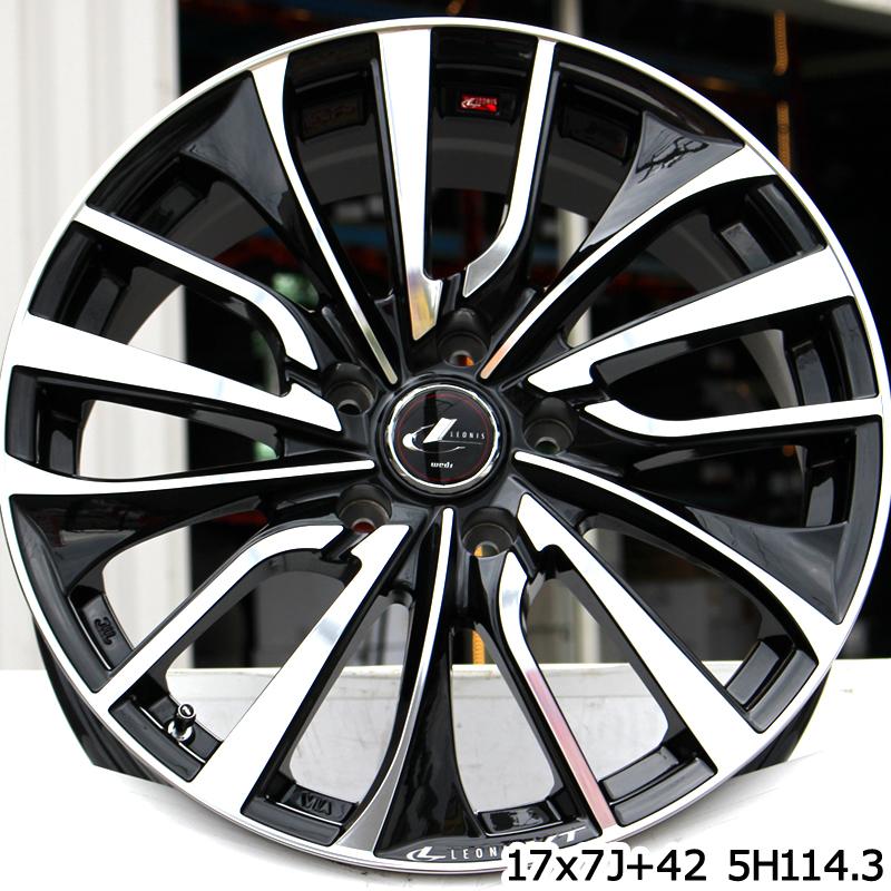 ブリヂストン NEXTRY ネクストリー サマータイヤ 225/60R17 WEDS ウェッズ Leonis レオニス VT ホイールセット 4本 17インチ 17 X 7 +53 5穴 114.3