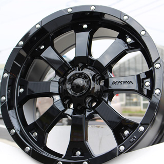 KENDA スタッドレスタイヤ ICETEC NEO KR36 2018年製 スタッドレス 235/70R16 MKW MK-46 グロスブラック ホイールセット 4本 16インチ 16 X 7 +42 5穴 114.3