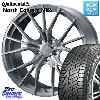 コンチネンタル North Contact NC6 ノースコンタクト スタッドレス スタッドレスタイヤ 245/45R18 WEDS F ZERO FZ-1 鍛造 FORGED ホイールセット 4本 18 X 7.5 +38 5穴 114.3