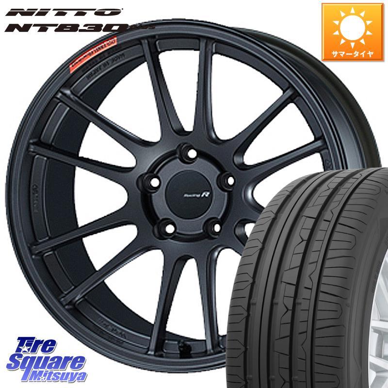 8 25は最大21倍 ENKEI エンケイ Racing Revolution GTC01RR ホイールセット 18 X 8.5J 42 5穴 114.3NITTO ニットー NT830 plus サマータイヤ 245 40R18
