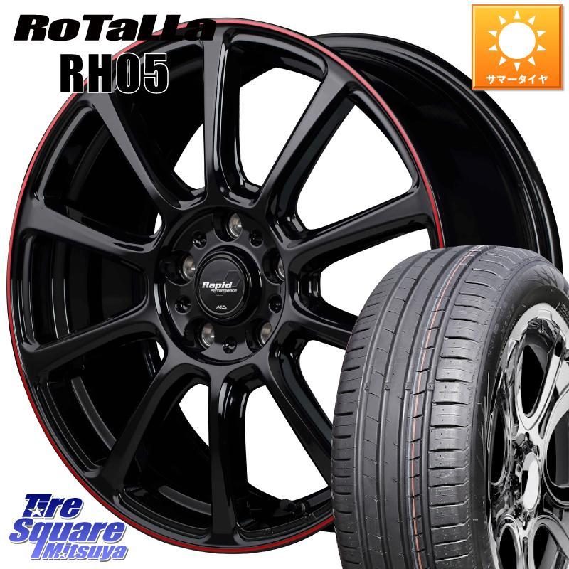 CR-Z フリード フリードスパイク ハイブリッド 3 15はエントリーで最大25倍 取付対象 訳あり品送料無料 MANARAY ラピッドパフォーマンス ZX10 ホイールセット 16インチ 16 5穴 サマータイヤ RH05 新商品 195 欠品時は同等商品のご提案します X 114.3 +53 Rotalla 6.5J 55R16