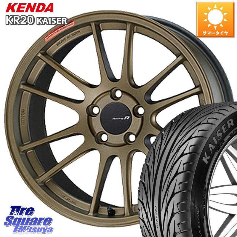 8 20はお盆明け初売りセール ENKEI エンケイ Racing Revolution GTC01RR ホイールセット 18 X 7.5J 45 5穴 114.3KENDA ケンダ KAISER KR20 サマータイヤ 245 45R18