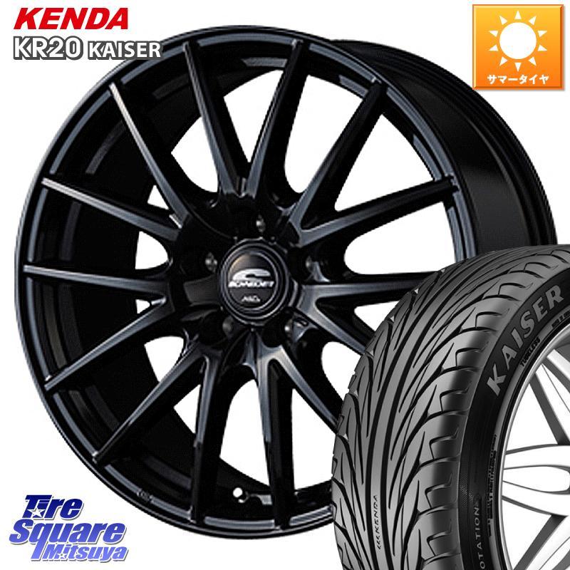 KENDA ケンダ KAISER KR20 サマータイヤ 225/50R17 MANARAY SCHNEDER SQ27 ブラック ホイールセット 17インチ 17 X 7.0J +55 5穴 114.3