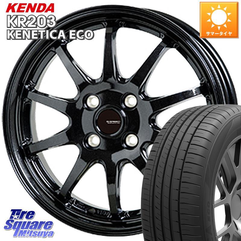 【8/20はお盆明け初売りセール】 HotStuff G-SPEED G-04 G04 ブラック ホイールセット 13インチ 13 X 4.0J +45 4穴 100KENDA ケンダ KENETICA ECO KR203 サマータイヤ 155/80R13