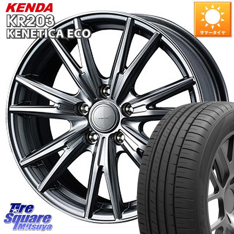 【10/15は最大27倍】【取付対象】 ステップワゴン WEDS 37570 ウェッズ ヴェルヴァ KEVIN(ケビン) ホイールセット 16インチ 16 X 6.5J +53 5穴 114.3 KENDA ケンダ KENETICA ECO KR203 サマータイヤ 205/60R16
