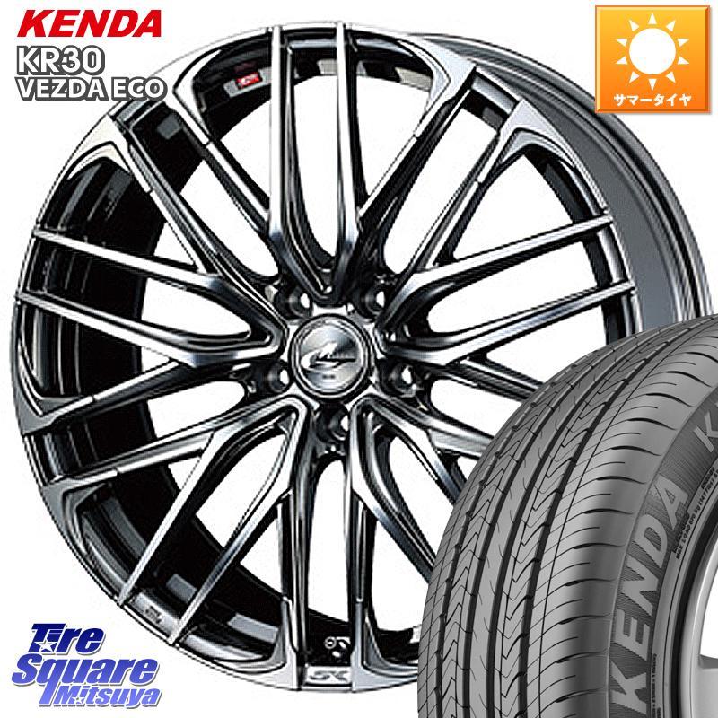 エクストレイル X-TRAIL 日産 CX-5 3 15はエントリーで最大25倍 取付対象 WEDS 38330 レオニス 送料無料カード決済可能 SK ウェッズ Leonis ホイールセット 18インチ 7.0J サマータイヤ X 5穴 +47 235 チープ 55R18 KENDA VEZDA ECO 114.3 ケンダ KR30 18