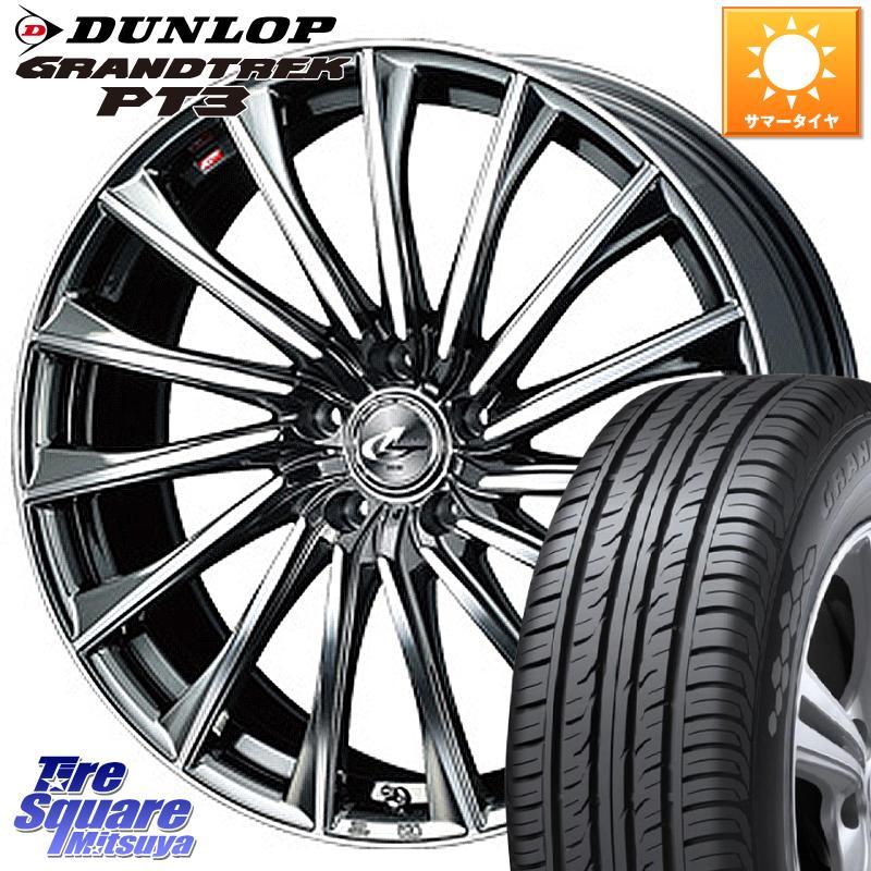 DUNLOP ダンロップ GRANDTREK PT3 グラントレック サマータイヤ 235/55R19 WEDS 37790 レオニス CH ウェッズ Leonis ホイールセット 19インチ 19 X 8.0J +43 5穴 114.3