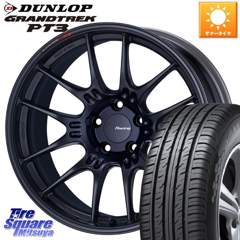 DUNLOP ダンロップ GRANDTREK PT3 グラントレック サマータイヤ 225 55R18 ENKEI エンケイ RACING 18 X +45 セット 114.3 18インチ ホイール 売却 5穴 8.0J GTC02 AL完売しました。
