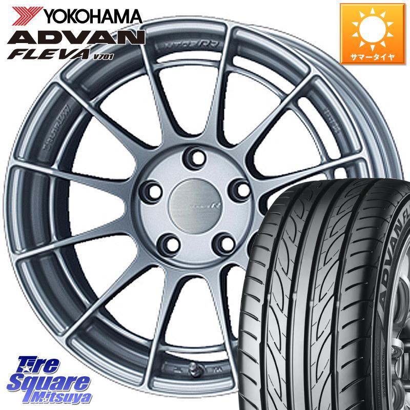 8 20はお盆明け初売りセール CX-3 アコード MAZDA3 エスティマ ENKEI エンケイ Racing Revolution NT03RR ホイールセット 17 X 7.0J 48 5穴 114.3YOKOHAMA ADVAN FLEVA V70