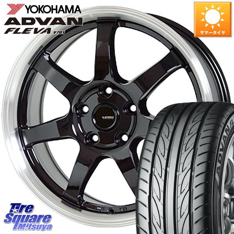 アイシス YOKOHAMA ADVAN FLEVA V701 アドバン フレバ サマータイヤ 215 40R18 HotStuff +48 G.speed 店 7.5J 18 5穴 軽量設計 X P-03 ホイールセット 大人気! 18インチ 114.3