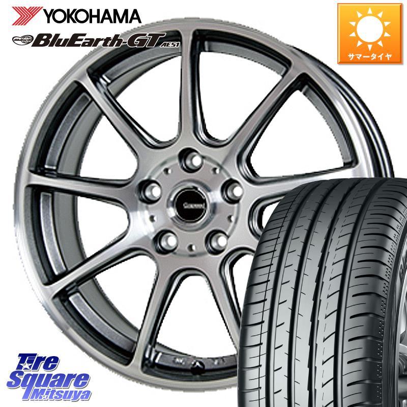 インサイト 在庫限り シビック YOKOHAMA ヨコハマ ブルーアースGT AE51 サマータイヤ 215 毎日続々入荷 55R16 HotStuff 軽量設計 16インチ 114.3 P-01 16 5穴 X +38 ホイールセット 6.5J G.speed
