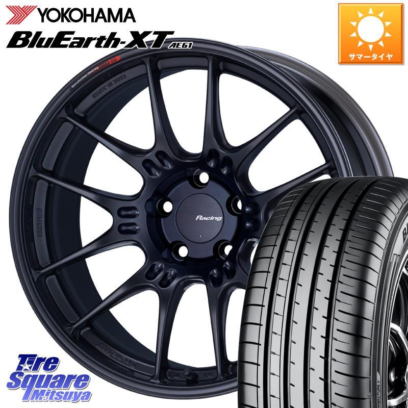 YOKOHAMA ヨコハマ BluEarth XT 返品交換不可 未使用品 AE61 ブルーアース サマータイヤ 235 55R18 ENKEI エンケイ +45 X 5穴 18インチ GTC02 18 セット 8.0J ホイール 114.3 RACING