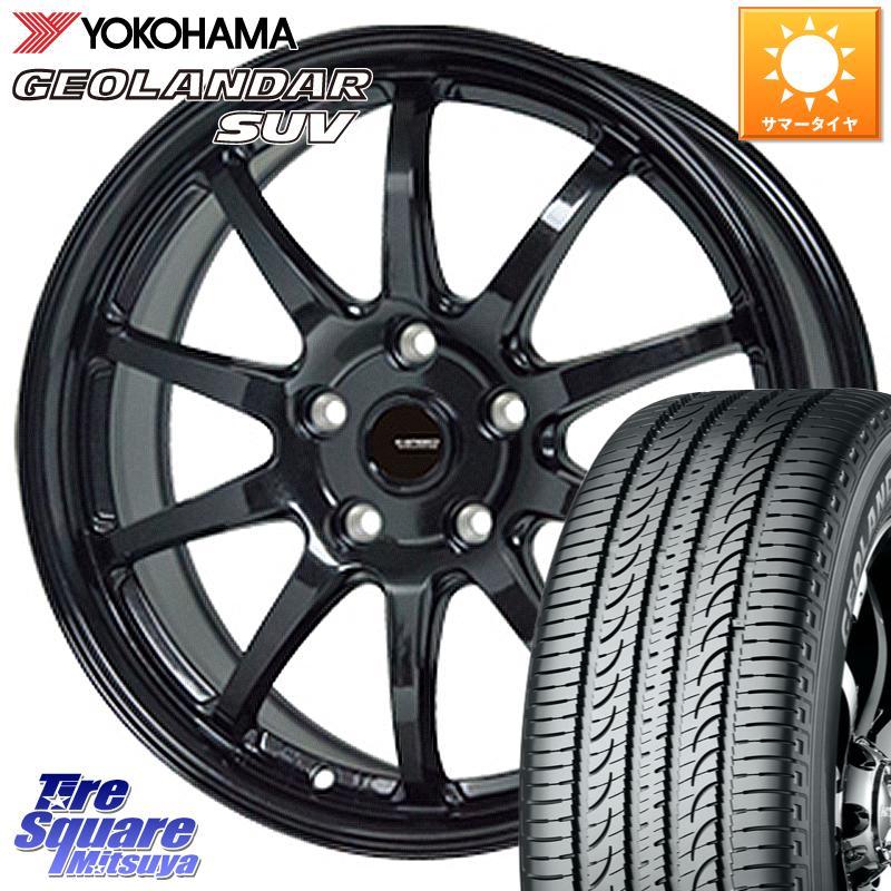 【10/25はRカードで最大37倍】【取付対象】 NX RAV4 HotStuff G-SPEED G-04 G04 ブラック ホイールセット 18インチ 18 X 7.5J +38 5穴 114.3 YOKOHAMA ヨコハマ ジオランダー SUV G055 サマータイヤ 225/60R18