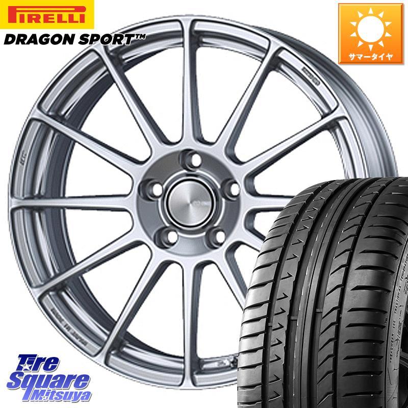 8 25は最大21倍 インプレッサG4 ENKEI エンケイ PerformanceLine PF03 ホイールセット 18 X 7.0J 48 5穴 100ピレリ DRAGON SPORT ドラゴン スポーツ 数量限定特価 サマータイヤ 225 40R1