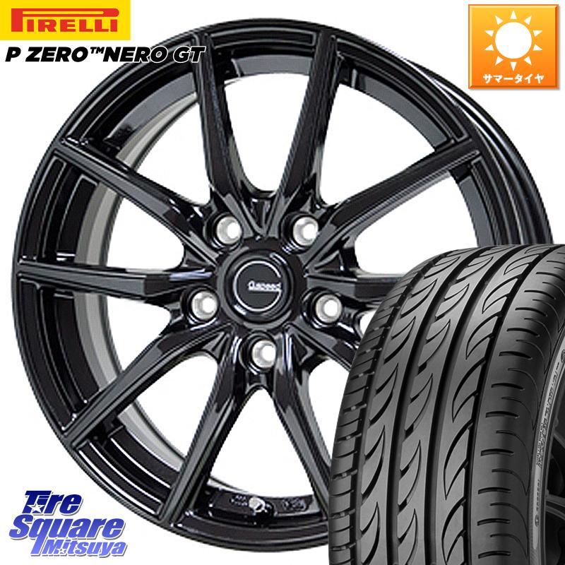 8 20はお盆明け初売りセール HotStuff G.speed G-02 G02 ブラック ホイールセット 18インチ 18 X 7.5J 38 5穴 114.3ピレリ P ZERO ピーゼロ NERO ネロ GT サマータイヤ 245 45R18