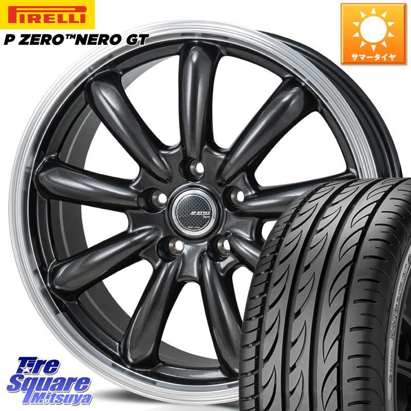 8 20はお盆明け初売りセール MONZA JP STYLE Bany ホイール セット 18インチ 18 X 8.0J 40 5穴 114.3ピレリ P ZERO ピーゼロ NERO ネロ GT サマータイヤ 225 45R18