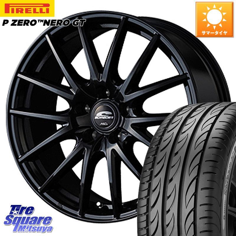 【2/20はEntryで最大25倍】【取付対象】 レガシー MANARAY SCHNEDER SQ27 ブラック ホイールセット 17インチ 17 X 7.0J +48 5穴 114.3 ピレリ P ZERO ピーゼロ NERO ネロ GT(数量限定特価) サマータイヤ 225/55R17