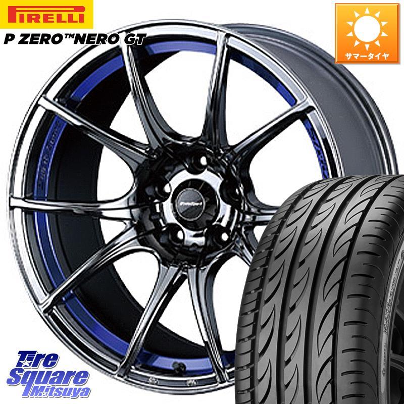 8 20はお盆明け初売りセール アコード WEDS 72635 SA-10R ウェッズ スポーツ ホイールセット 18インチ 18 X 8.5J 45 5穴 114.3ピレリ P ZERO ピーゼロ NERO ネロ GT サマータイヤ 235 45R18