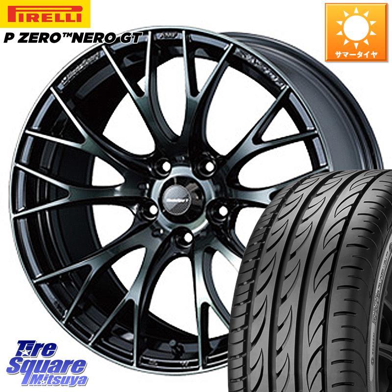 8 20はお盆明け初売りセール CR-Z WEDS 72728 SA-20R ウェッズ スポーツ ホイールセット 17インチ 17 X 7.0J 48 5穴 114.3ピレリ P ZERO ピーゼロ NERO ネロ GT サマータイヤ 205 45R17