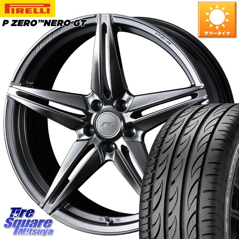 【8/25は最大21倍】 WEDS F ZERO FZ-3 FZ3 鍛造 FORGED ホイールセット20インチ 20 X 8.5J +38 5穴 114.3ピレリ P ZERO ピーゼロ NERO ネロ GT サマータイヤ 245/30R20
