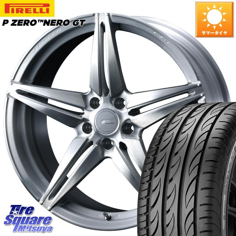 【8/25は最大21倍】 WEDS F ZERO FZ-3 FZ3 鍛造 FORGED ホイールセット20インチ 20 X 8.5J +48 5穴 114.3ピレリ P ZERO ピーゼロ NERO ネロ GT サマータイヤ 245/30R20