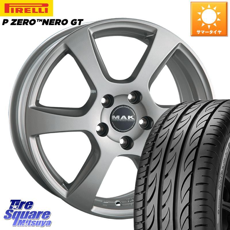 【10/15は最大27倍】【取付対象】 阿部商会 MAK VINCI(ヴィンチ) ホイールセット 17インチ 17 X 7.0J(B63) +50 5穴 108 ピレリ P ZERO ピーゼロ NERO ネロ GT サマータイヤ 215/50R17