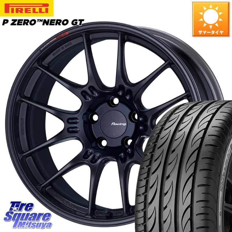 【10/15は最大27倍】【取付対象】 ENKEI エンケイ RACING GTC02 ホイール セット 19インチ 19 X 8.0J +45 5穴 114.3 ピレリ P ZERO ピーゼロ NERO ネロ GT サマータイヤ 245/35R19