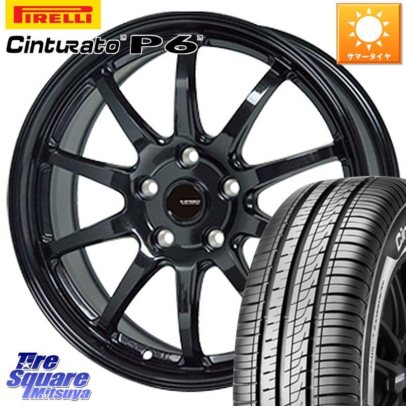 【8/25は最大21倍】 CX-3 アコード MAZDA3 エスティマ HotStuff G-SPEED G-04 G04 ブラック ホイールセット 17インチ 17 X 7.0J +48 5穴 114.3ピレリ チンチュラート P6 (特価)サマータイヤ 215/55R17