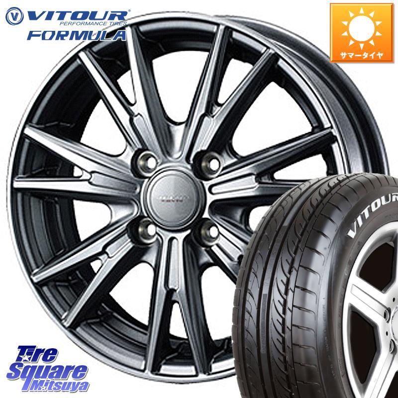 VITOUR FORMULA X 軽自動車 ホワイトレター サマータイヤ 155/65R14 WEDS 37557 ウェッズ ヴェルヴァ KEVIN(ケビン) ホイールセット 14インチ 14 X 4.5J +45 4穴 100