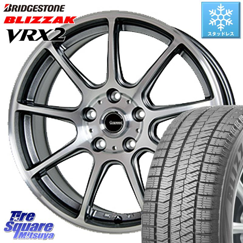CR-V ブリヂストン ブリザック VRX2 特価 スタッドレス ● 205/70R15 HotStuff 軽量設計!G.speed P-01 ホイールセット 15インチ 15 X 6.0J +53 5穴 114.3