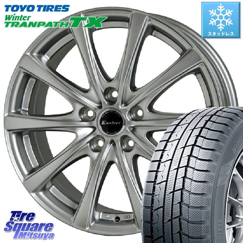 8 20はお盆明け初売りセール CX-3 TOYO ウィンター トランパス TX スタッドレスタイヤ 215 50R18 HotStuff エクスタープラス2 ホイールセット 18インチ 18 X 7.0J 48 5穴 114.3