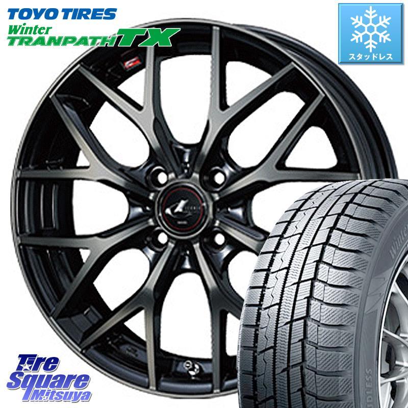 TOYO ウィンター トランパス TX 軽自動車 スタッドレスタイヤ 165/55R15 WEDS 37405 レオニス MX ウェッズ Leonis ホイールセット 15インチ 15 X 4.5J +45 4穴 100