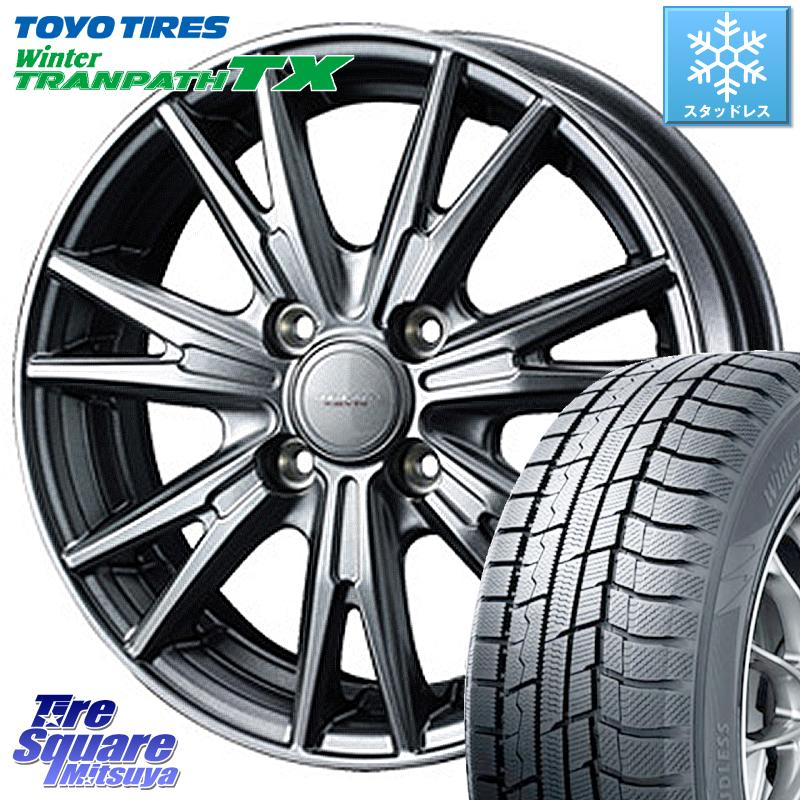 TOYO ウィンター トランパス TX 2020年製 スタッドレスタイヤ 165/65R14 WEDS 37557 ウェッズ ヴェルヴァ KEVIN(ケビン) ホイールセット 14インチ 14 X 4.5J +45 4穴 100