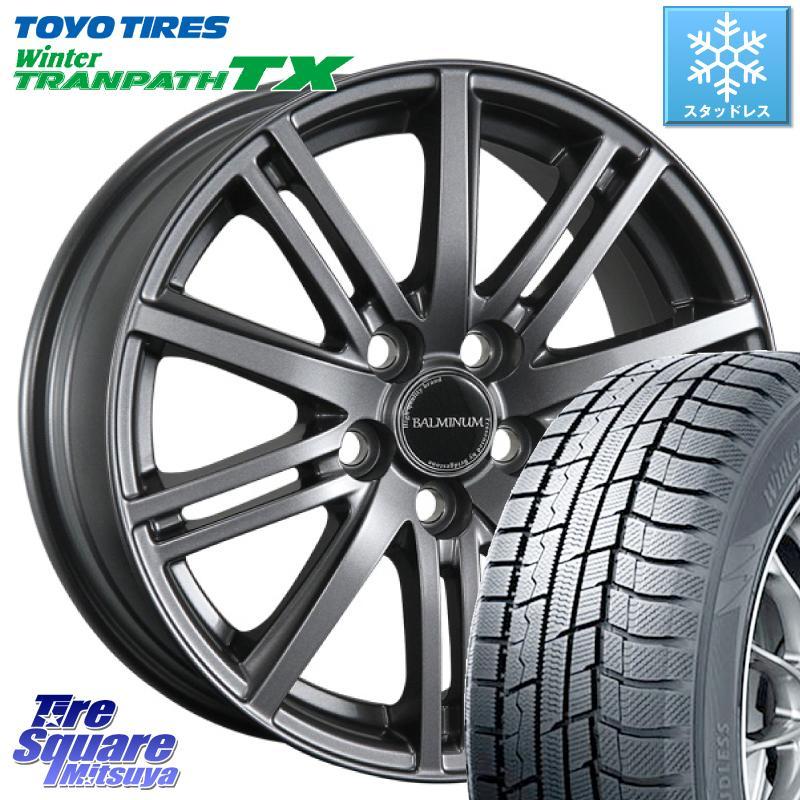 TOYO ウィンター トランパス TX スタッドレスタイヤ 215/60R16 ブリヂストン BALMINUM バルミナ BR10 平座仕様(トヨタ車専用) ホイールセット 16 X 6.5J +39 5穴 114.3