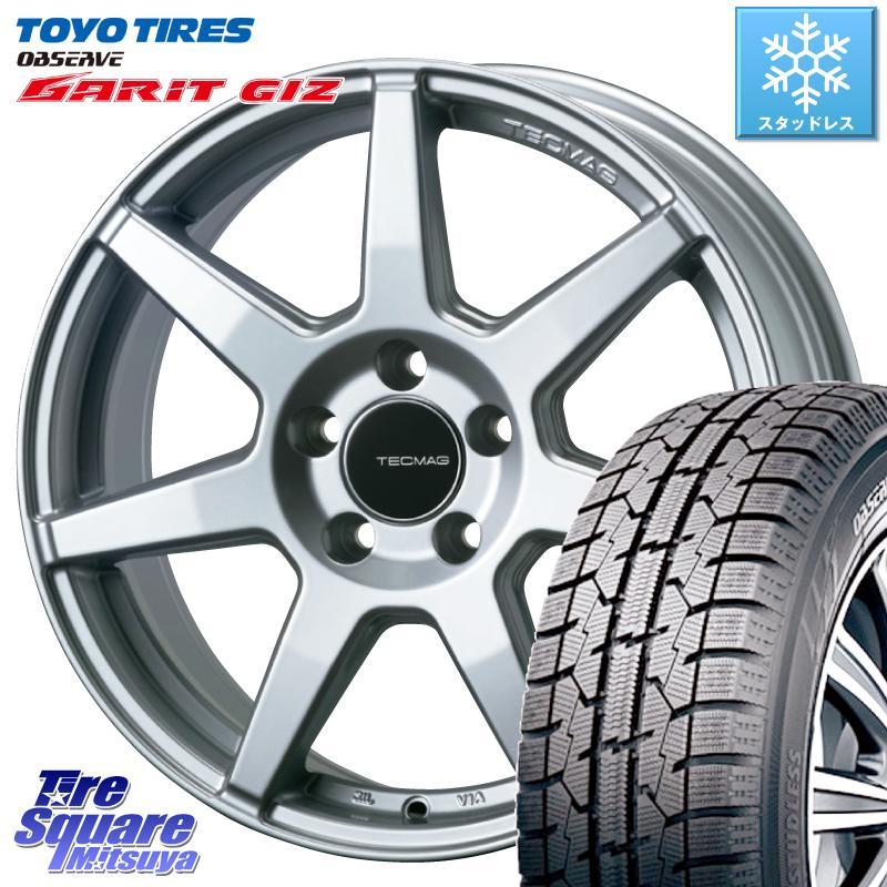 【8/20はお盆明け初売りセール】 TOYO ガリット GARIT GIZ 2020年製 ギズ スタッドレスタイヤ 235/45R17 TECMAG Type 207R 17 X 7.0J(VW) +40 5穴 112