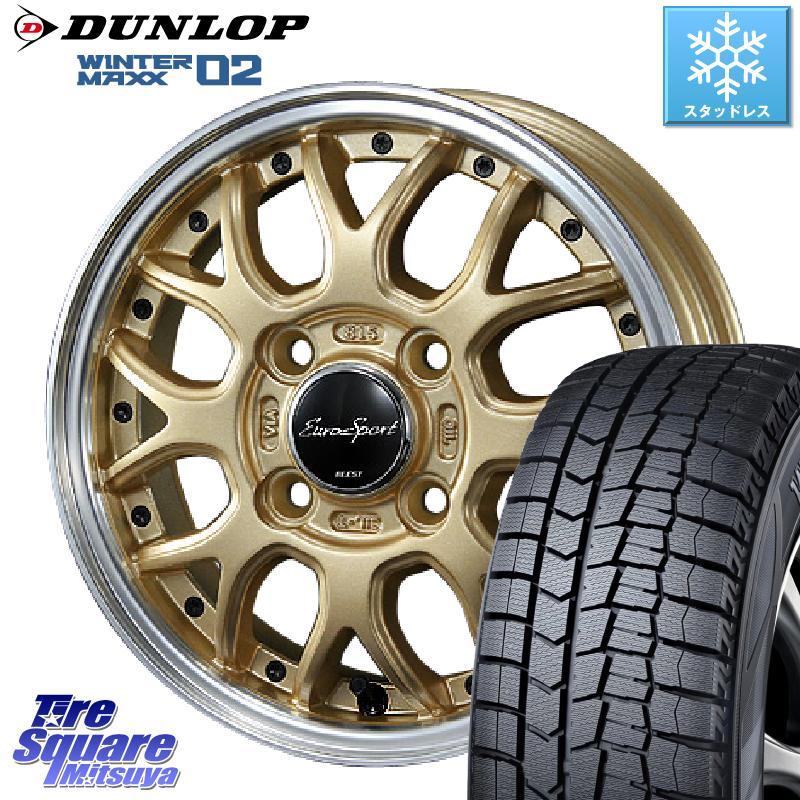 DUNLOP WINTER MAXX 02 ウィンターマックス WM02 ダンロップ スタッドレス 175/65R15 BLEST Eurosport Type815 ホイールセット 15インチ 15 X 5.5J +50 4穴 100