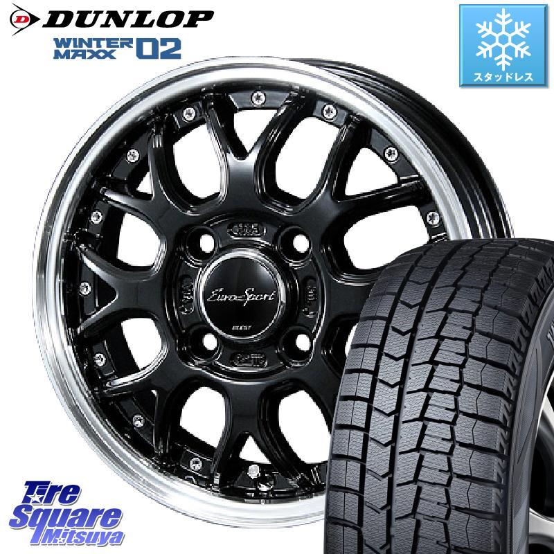 DUNLOP WINTER MAXX 02 ウィンターマックス WM02 ダンロップ スタッドレス 175/65R15 BLEST Eurosport Type815 ホイールセット 15インチ 15 X 5.5J +42 4穴 100