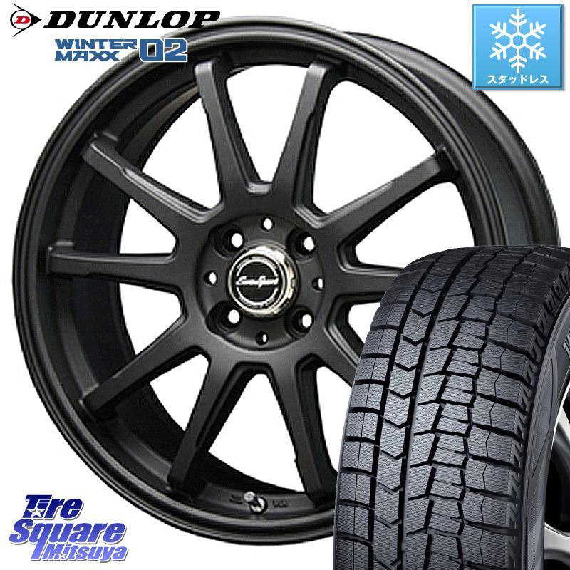DUNLOP WINTER MAXX 02 ウィンターマックス WM02 軽自動車 ダンロップ スタッドレス 165/55R15 BLEST Eurosport TypeSS-01 ホイールセット 15インチ 15 X 5.0J +45 4穴 100