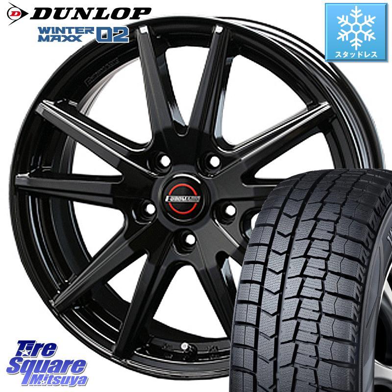 DUNLOP WINTER MAXX 02 ウィンターマックス WM02 ダンロップ スタッドレス 215/65R15 BLEST EUROMAGIC Lance ST ホイールセット 15インチ 15 X 6.0J +45 5穴 114.3