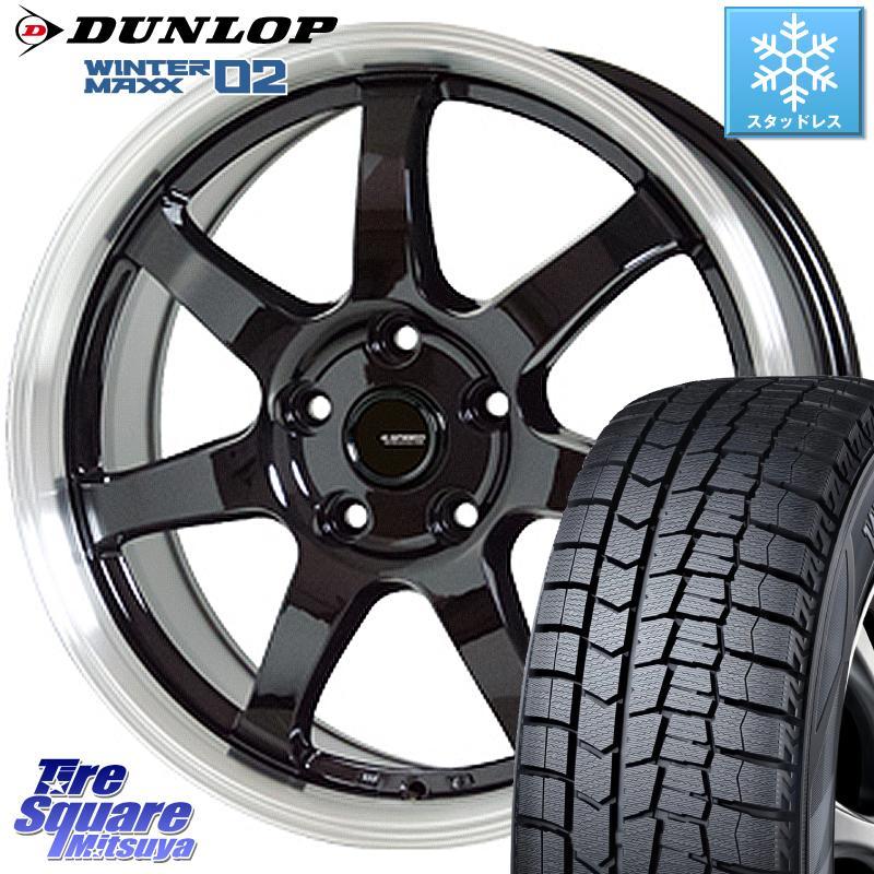 DUNLOP WINTER MAXX 02 ウィンターマックス WM02 CUV ダンロップ スタッドレス 215/60R16 HotStuff 軽量設計!G.speed P-03 ホイールセット 16インチ 16 X 6.5J +38 5穴 114.3