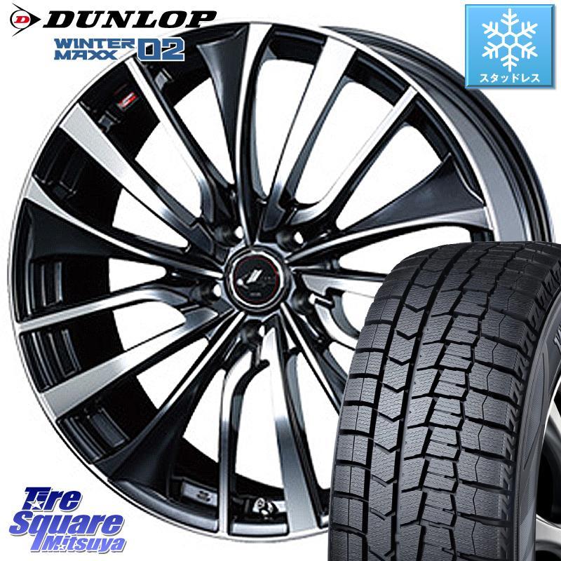 スイフト スイフトスポーツ DUNLOP WINTER MAXX 02 ウィンターマックス WM02 ダンロップ スタッドレス 175/65R15 WEDS 36331 レオニス VT ウェッズ Leonis ホイールセット 15インチ 15 X 6.0J +43 5穴 114.3