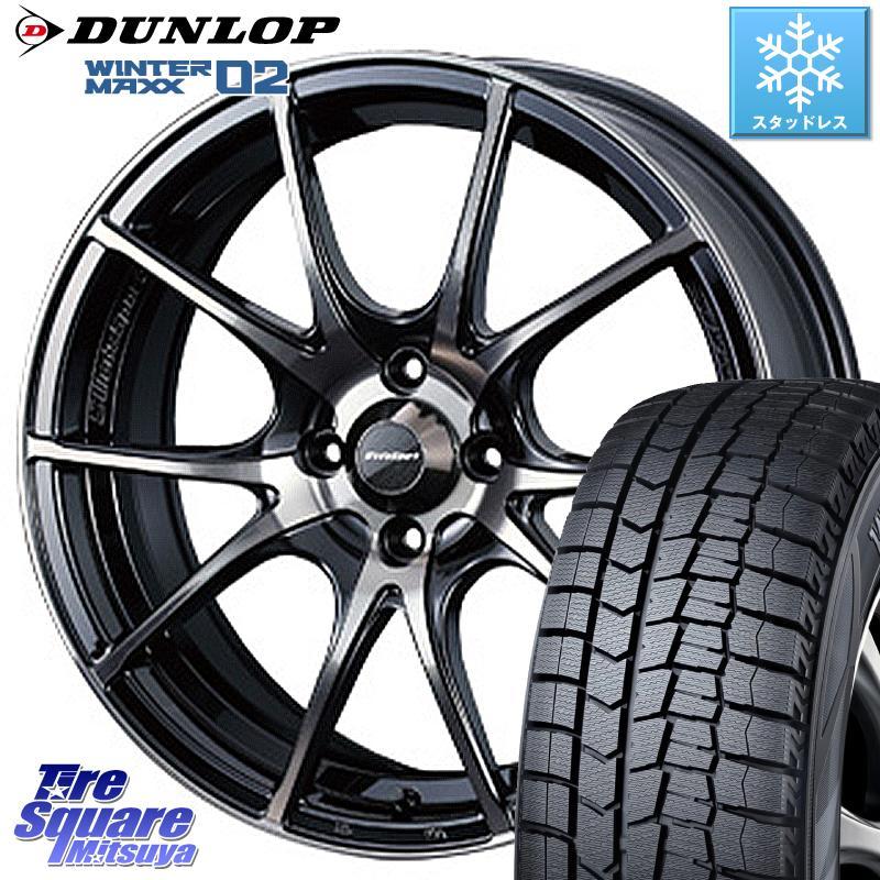 キューブZ12 DUNLOP WINTER MAXX 02 ウィンターマックス WM02 ダンロップ スタッドレス 175/65R15 WEDS 72616 SA-10R ウェッズ スポーツ ホイールセット 15インチ 15 X 6.0J +38 4穴 100
