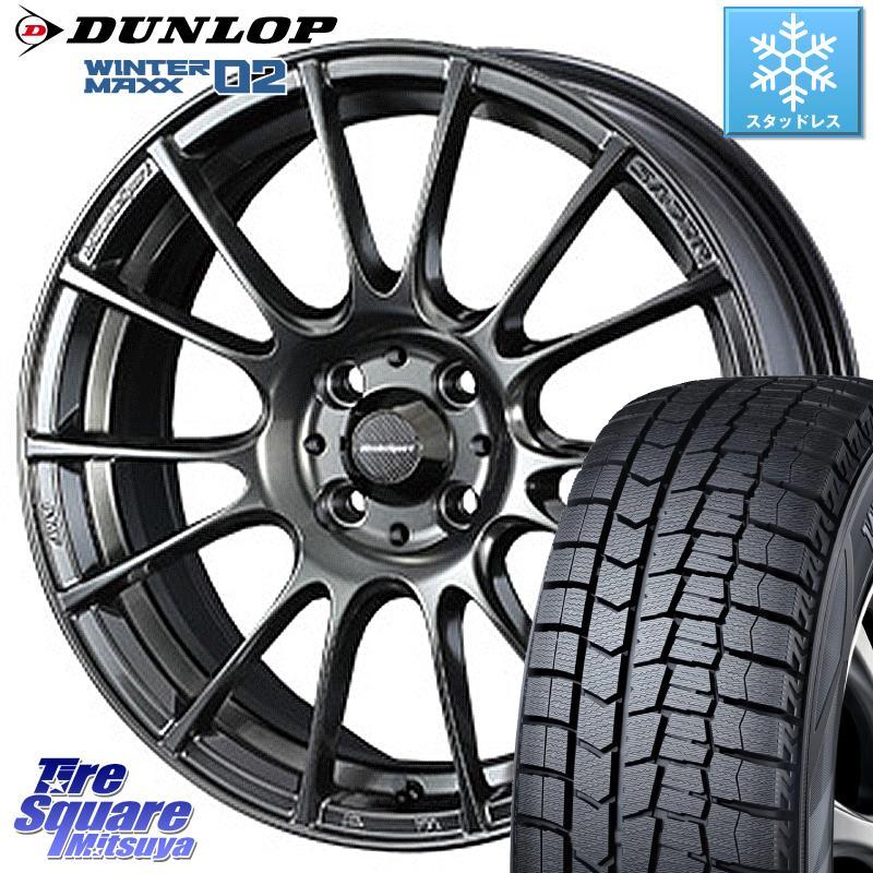 キューブZ12 DUNLOP WINTER MAXX 02 ウィンターマックス WM02 ダンロップ スタッドレス 175/65R15 WEDS 72669 SA-72R ウェッズ スポーツ ホイールセット 15インチ 15 X 6.0J +38 4穴 100