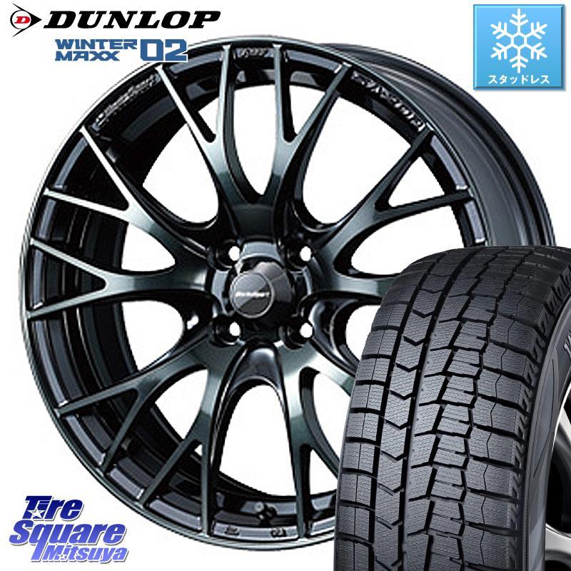DUNLOP WINTER MAXX 02 ウィンターマックス WM02 ダンロップ スタッドレス 195/65R15 WEDS 72776 SA-20R ウェッズ スポーツ ホイールセット 15インチ 15 X 6.0J +38 4穴 100