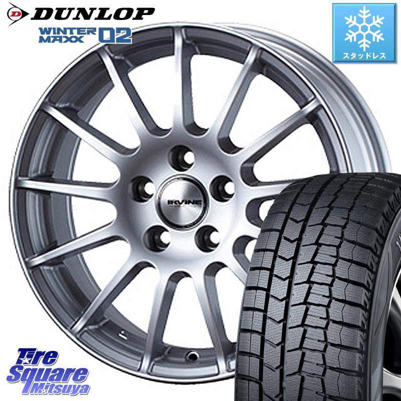 DUNLOP WINTER MAXX 02 ウィンターマックス WM02 ダンロップ スタッドレス 185/60R15 WEDS IR56038M ウェッズ IRVINE F01 ホイールセット 15インチ 15 X 6.0J(VW) +38 5穴 100