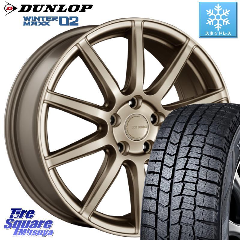 DUNLOP WINTER MAXX 02 ウィンターマックス WM02 ダンロップ スタッドレス 185/65R15 ブリヂストン ECOFORM エコフォルム CRS131 アルミホイールセット 15インチ 15 X 6.0J(VW) +38 5穴 100