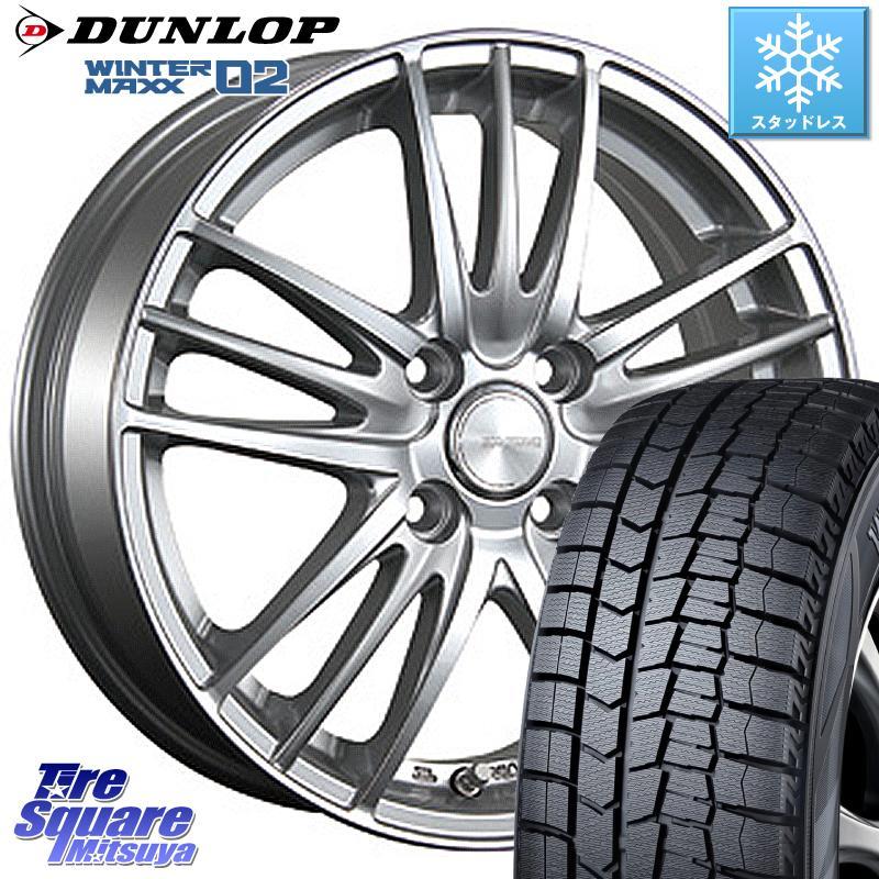 DUNLOP WINTER MAXX 02 ウィンターマックス WM02 軽自動車 ダンロップ スタッドレス 165/55R15 ブリヂストン ECOFORME エコフォルム CRS 18 ホイールセット 15 X 4.5J +48 4穴 100