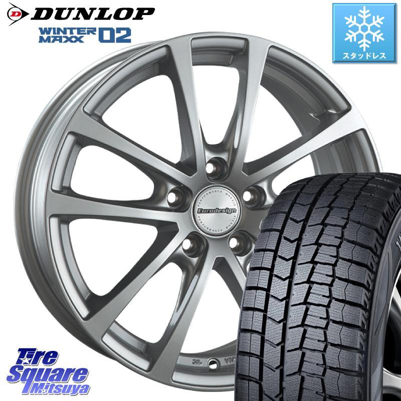 DUNLOP WINTER MAXX 02 ウィンターマックス WM02 XL ダンロップ スタッドレス 185/65R15 阿部商会 EuroDesign FOX-RF ホイールセット 15インチ 15 X 6.5J(VW) +38 5穴 100
