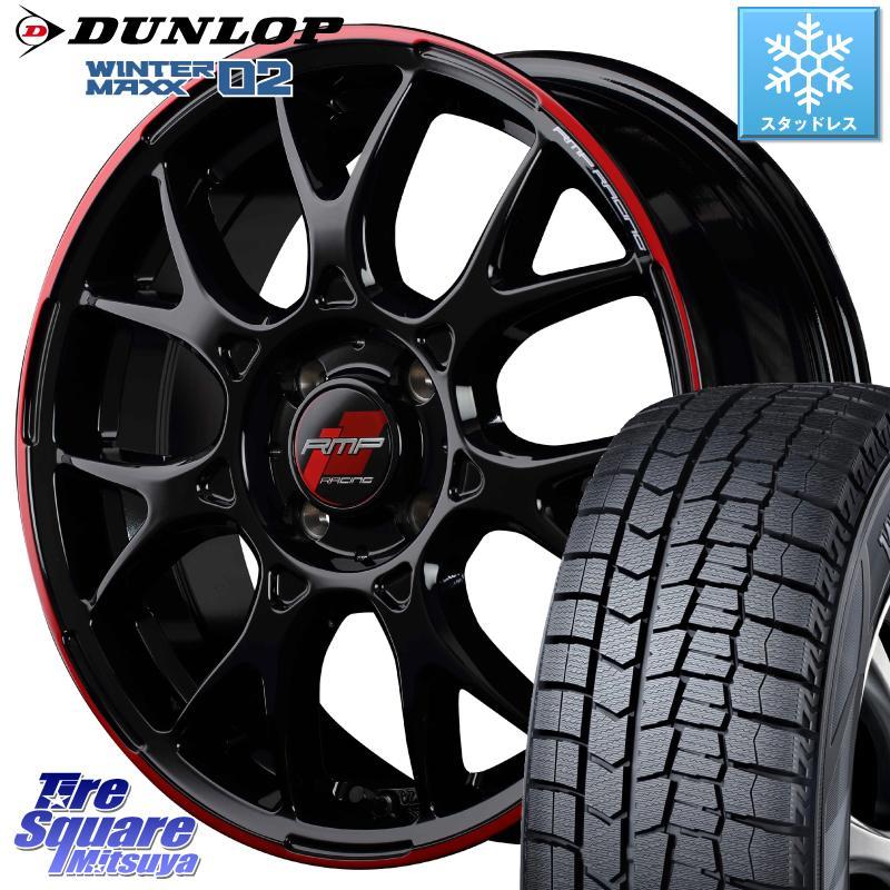 DUNLOP WINTER MAXX 02 ウィンターマックス WM02 軽自動車 ダンロップ スタッドレス 165/55R15 MANARAY RMP RACING R27 アルミホイールセット 15インチ 15 X 5.0J +45 4穴 100